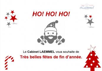 Le Cabinet LAEMMEL vous souhaite de Très belles fêtes de fin d'année.